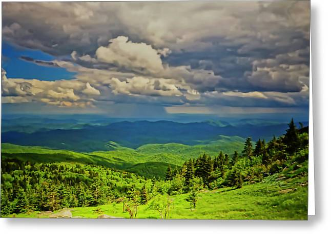 Greeting Card featuring the photograph Parkway View by Meta Gatschenberger