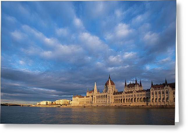 Parliament On The Danube Greeting Card