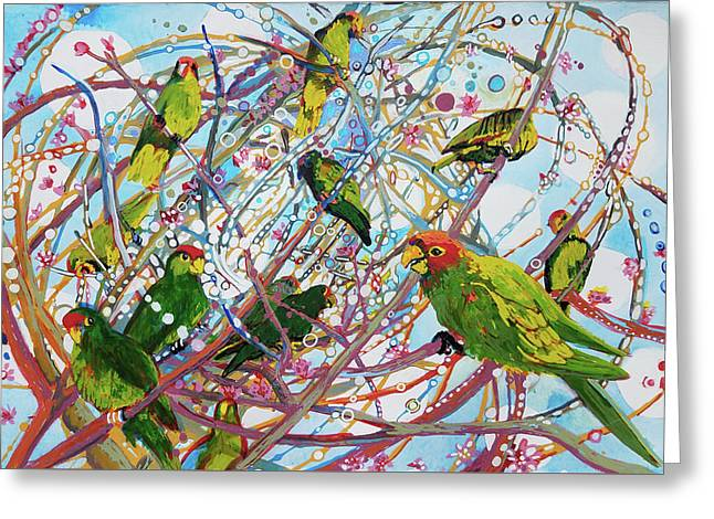 Parrot Bramble Greeting Card