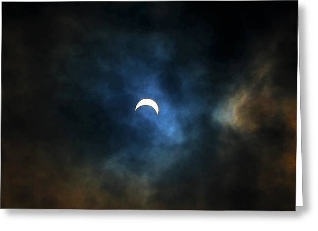Partial Eclipse Greeting Card