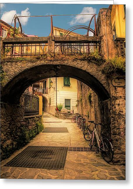 Passageway In Monterosso Greeting Card