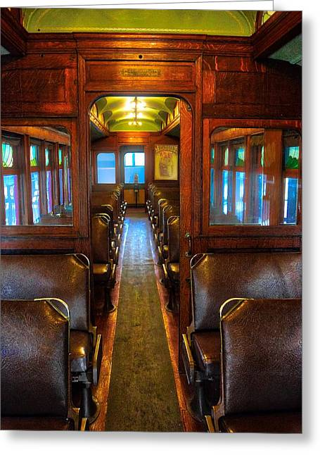 Passenger Train Memories Greeting Card