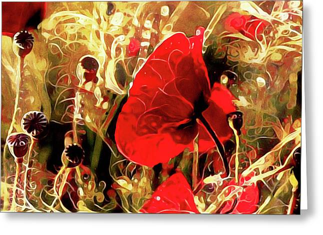 Passionate About Poppies Greeting Card
