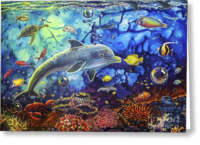 Past Memories New Beginnings Dolphin Reef Greeting Card