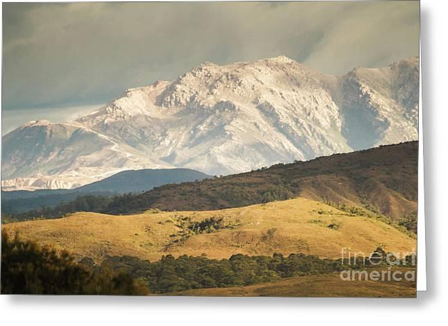 Pastoral Peaks  Greeting Card