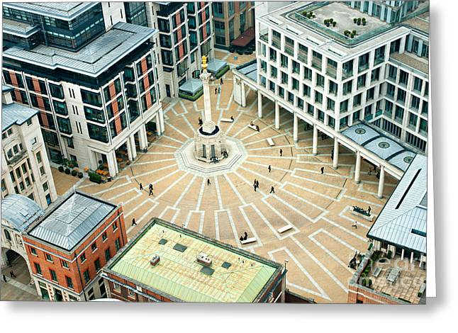 Paternoster Square, London. It Is An Greeting Card