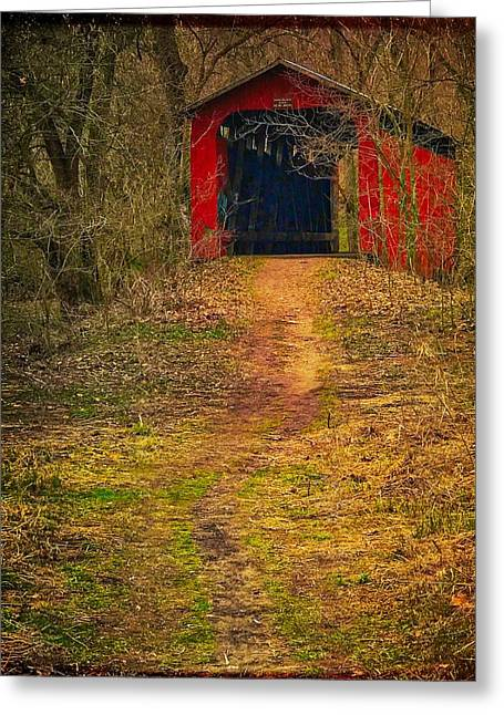 Path To Bridge Greeting Card