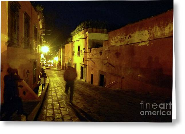 Greeting Card featuring the photograph Patzcuaro Street by Rosanne Licciardi