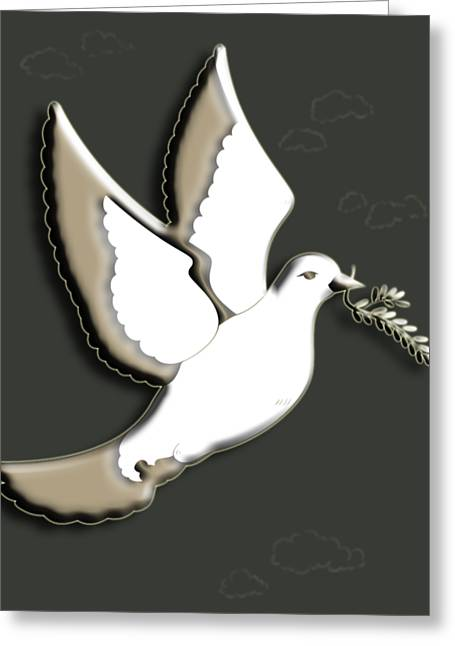 Peace Among The Clouds Greeting Card