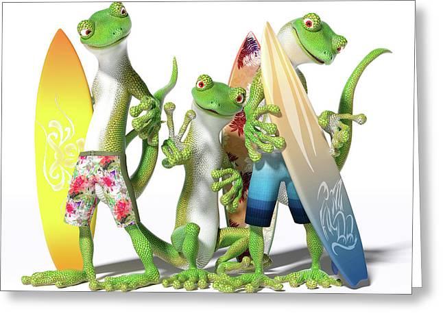 Peace Geckos  Greeting Card