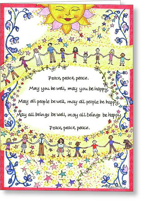 Peace, Peace, Peace Greeting Card