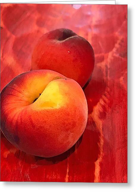 Greeting Card featuring the digital art Peachy by Cindy Greenstein