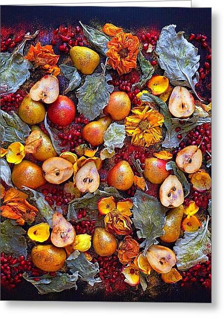 Pear Livable Tapestry Greeting Card