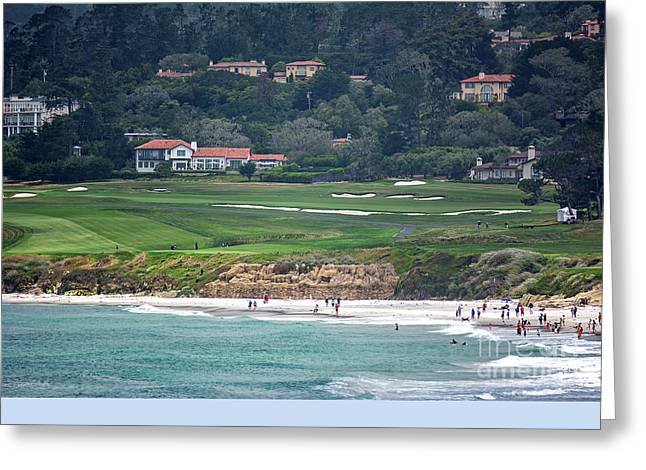 Pebble Beach Serenity After The Open Greeting Card