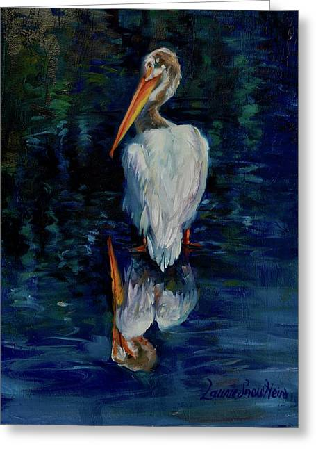 Pelican Puddle Greeting Card