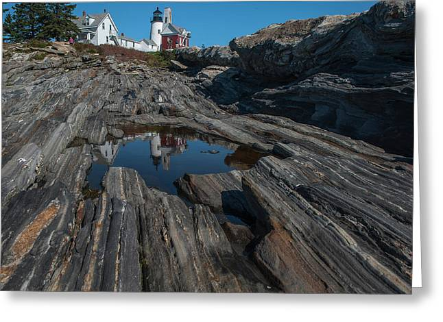 Greeting Card featuring the photograph Pemaquid Lighthouse by Rick Hartigan