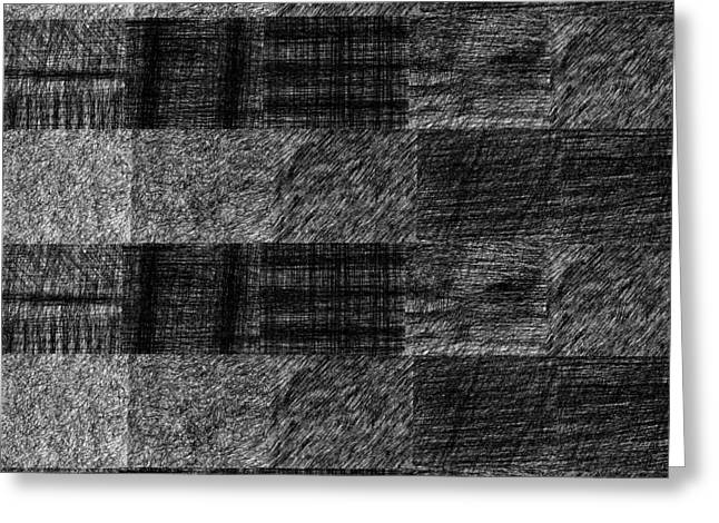 Pencil Scribble Texture 1 Greeting Card