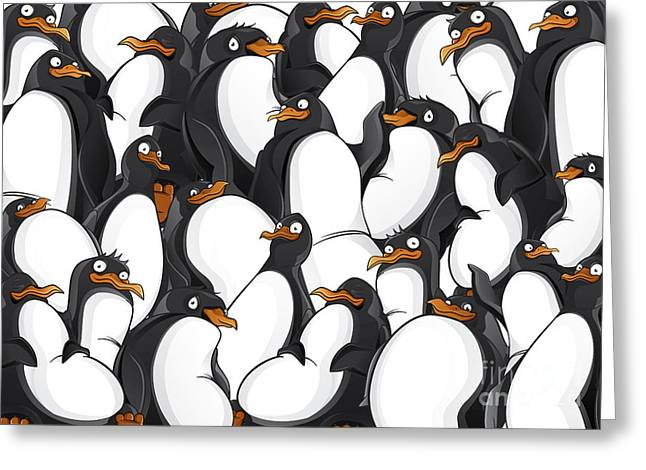 Penguins Pattern Greeting Card