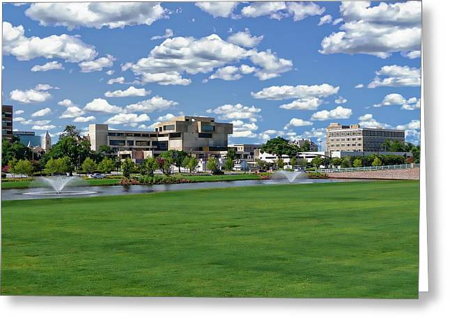 Greeting Card featuring the photograph Pensacola Financial District by Anthony Dezenzio