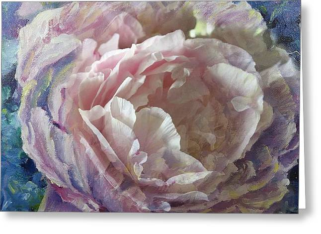 Peony -transparent Petals Greeting Card