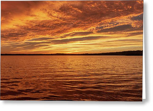 Percy Priest Lake Sunset Greeting Card