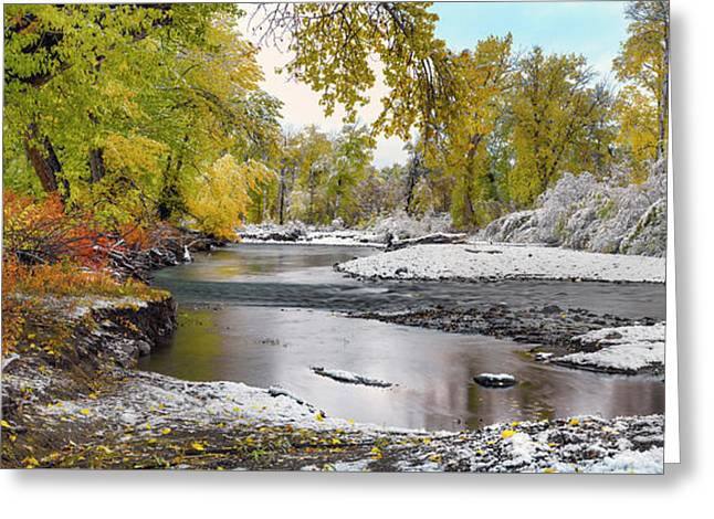 Greeting Card featuring the photograph Perfect Autumn Day by Leland D Howard