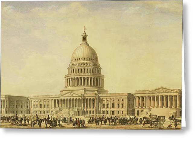 Perspective Rendering Of United States Capitol Greeting Card