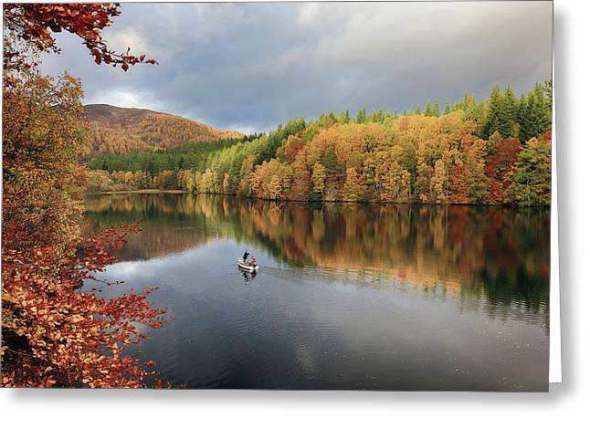 Greeting Card featuring the photograph Perthshire Autumn by Grant Glendinning