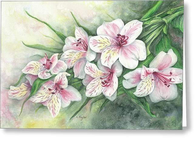 Peruvian Lilies Greeting Card
