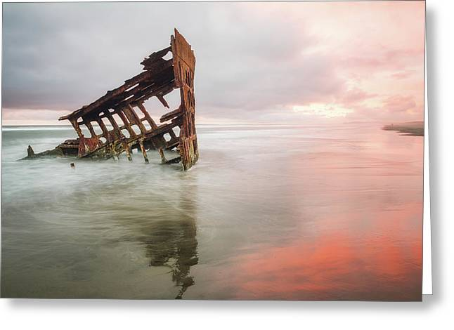 Greeting Card featuring the photograph Peter Iredale Shipwreck by Nicole Young