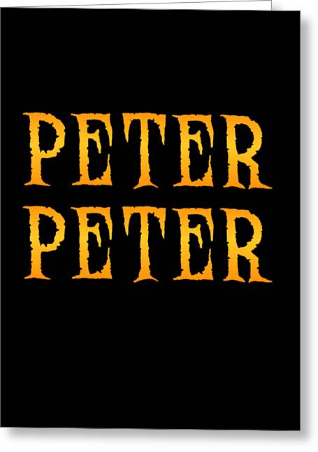 Greeting Card featuring the digital art Peter Peter Pumpkin Eater Costume by Flippin Sweet Gear