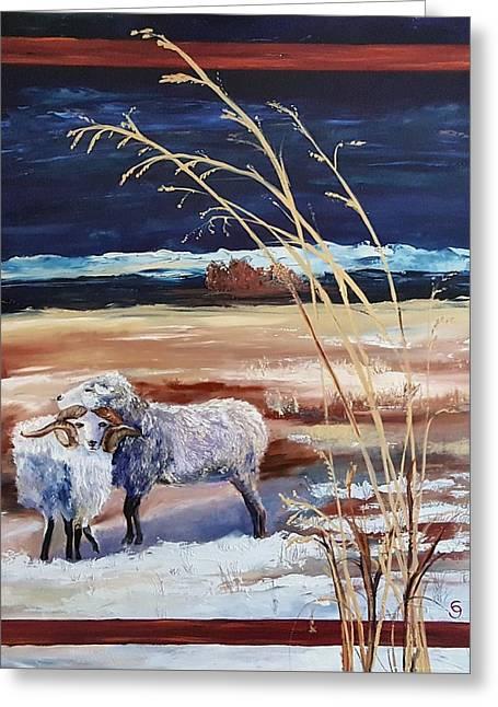 Phil And Alice Navajo Sheep    38 Greeting Card