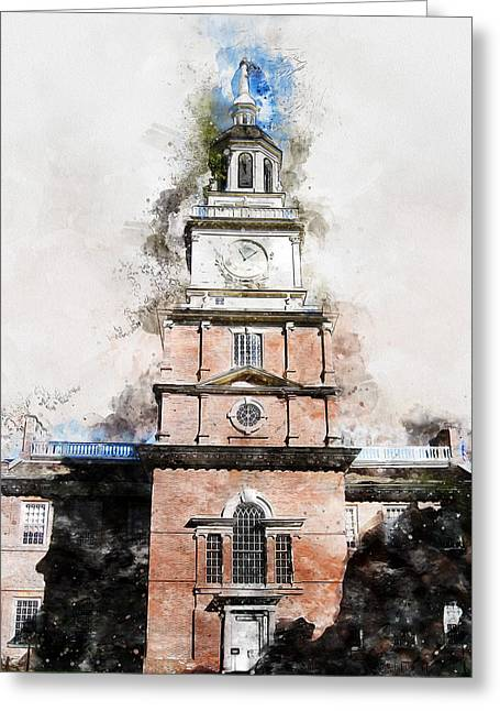Philadelphia Independence Hall - 01 Greeting Card