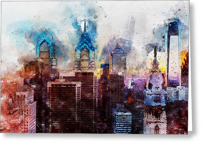 Philadelphia, Pennsylvania - 01  Greeting Card by Andrea Mazzocchetti