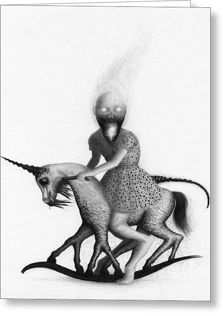 Philippa The Crackling Rider - Artwork  Greeting Card