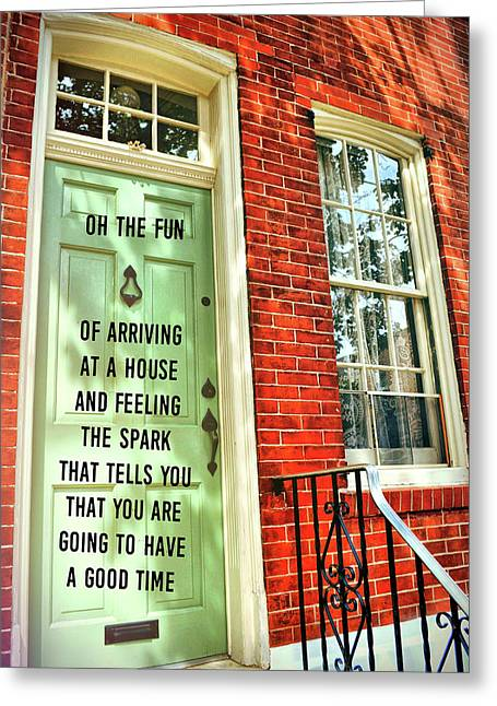 Philly Welcome Quote Greeting Card by JAMART Photography