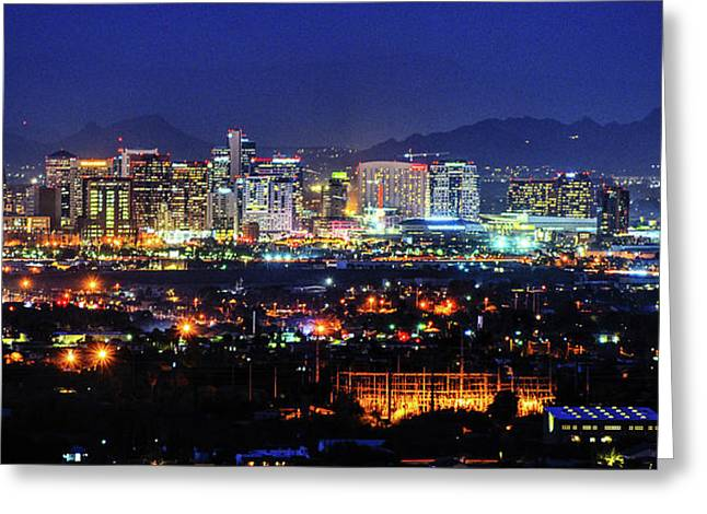 Phoenix Skyline Greeting Card