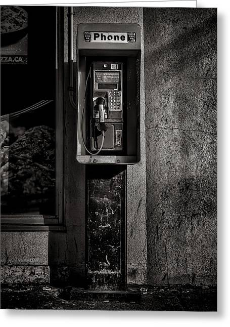 Greeting Card featuring the photograph Phone Booth No 9 by Brian Carson