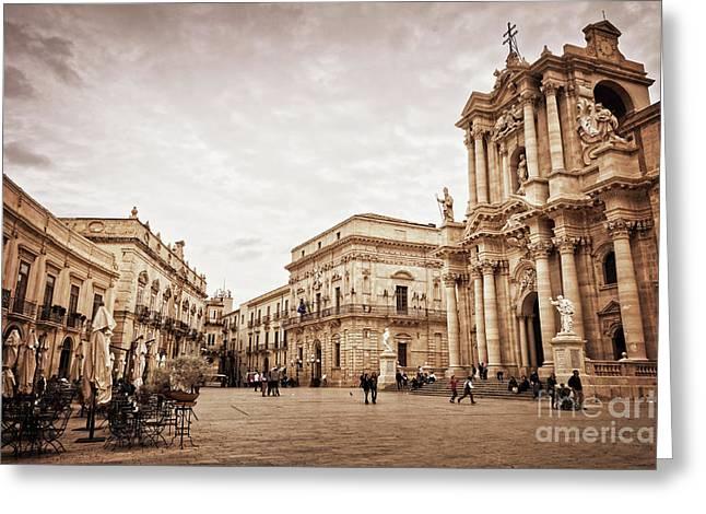 Piazza Del Duomo In Syracuse Italy Greeting Card