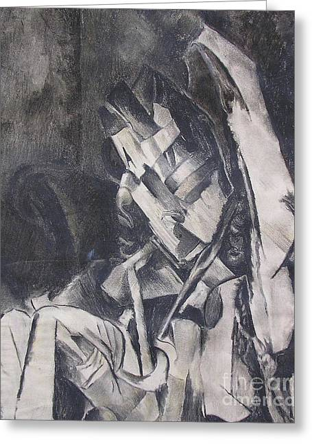 Greeting Card featuring the drawing Picasso Study by Rosanne Licciardi