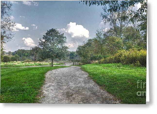 Pickerington Ponds Walkway Greeting Card