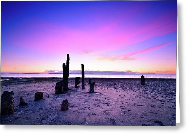 Picnic Point Sunset Greeting Card