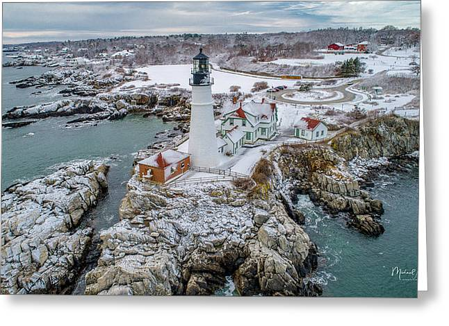 Picturesque Maine  Greeting Card