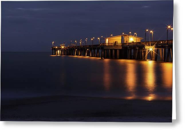 Pier Glow Greeting Card