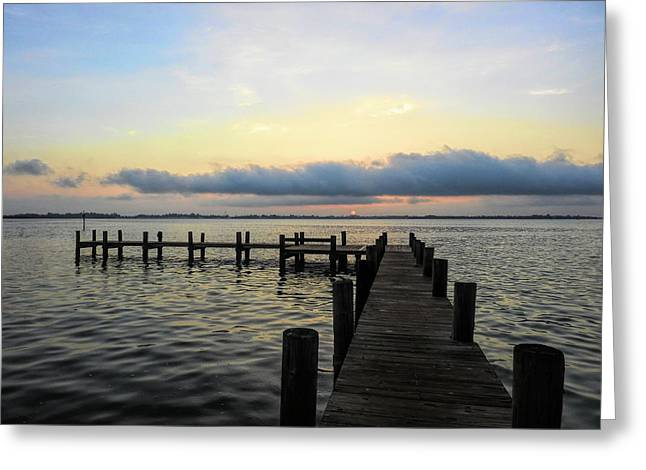 Pier Into Morning Greeting Card