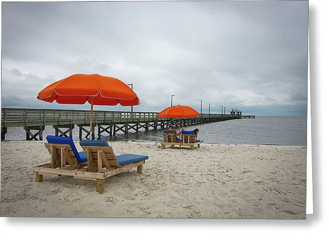 Greeting Card featuring the photograph Pier by Jim Mathis
