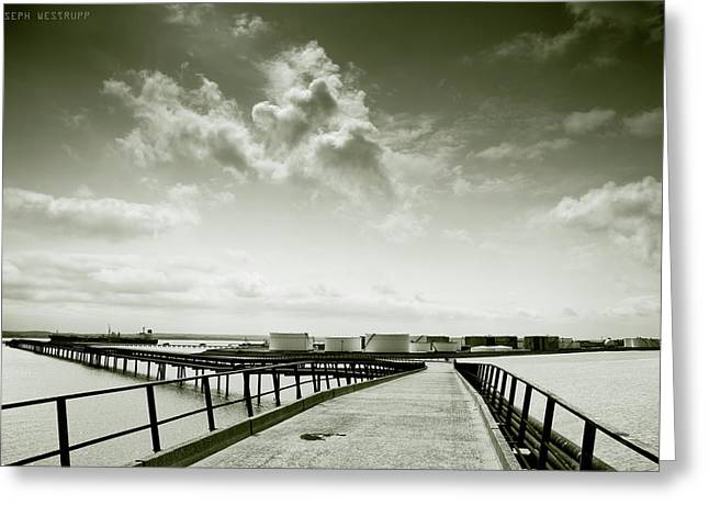 Pier-shaped Greeting Card