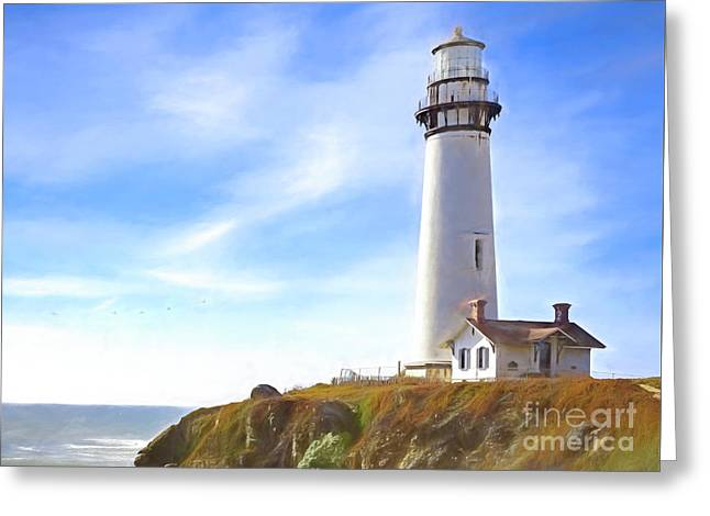 Pigeon Point Lighthouse Ca Greeting Card