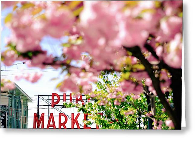Greeting Card featuring the photograph Pike Place Market In Seattle by Nicole Young