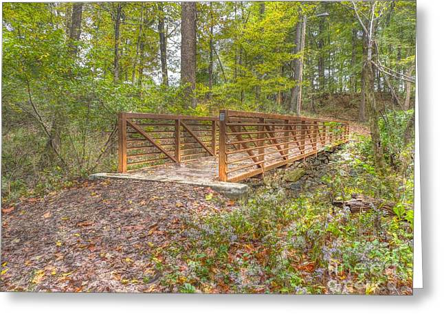 Pine Quarry Park Bridge Greeting Card